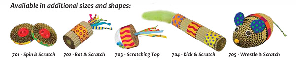 New Corrugate Cat Toys from Petstages